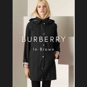 BURBERRY Brittany Fleeced Raincoat Brown 10R
